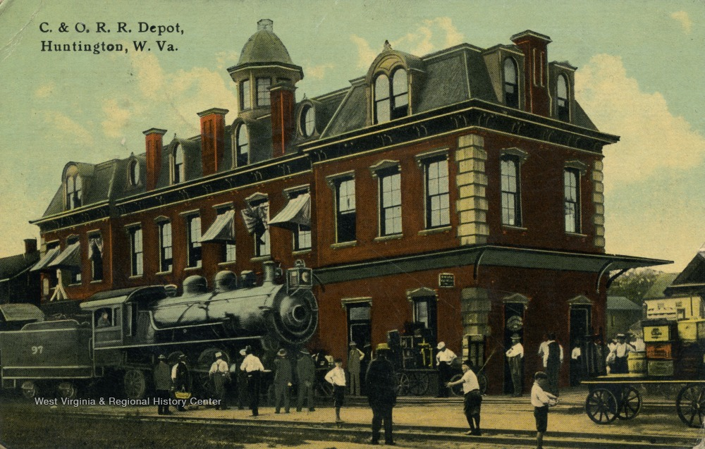 The first C&O depot, built in 1872