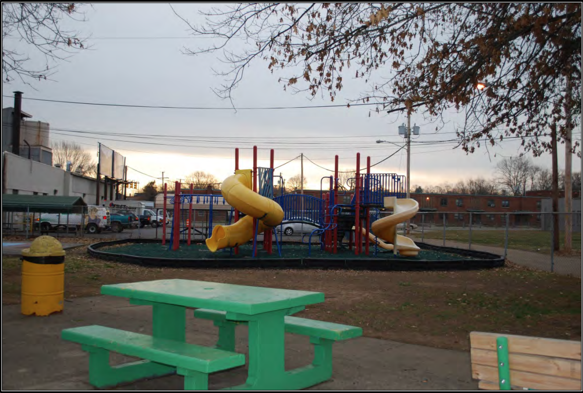 Playground situated to the north of the swimming pool