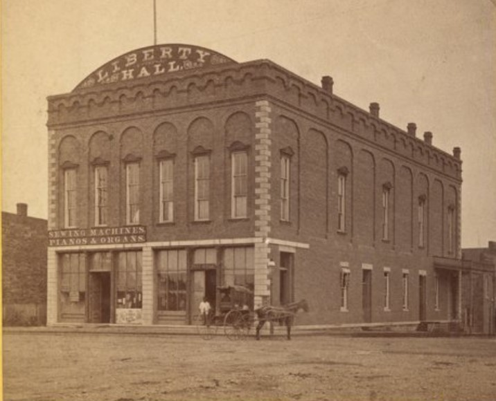 Former Liberty Hall building in 1870s photograph (R.E. Weeks)