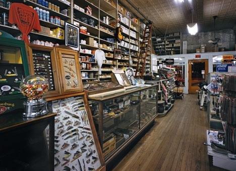 The inside of Tupelo Hardware Company
