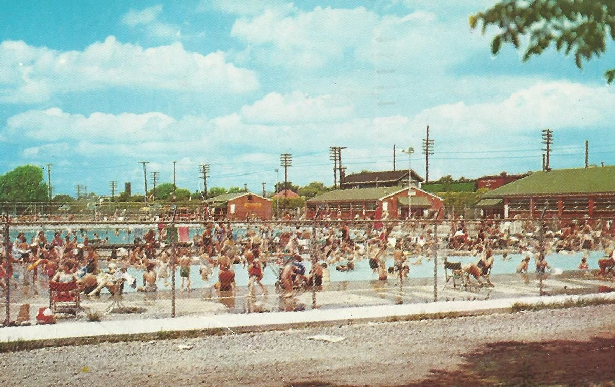 This photo, courtesy of the Herald-Dispatch, shows the thriving business of Ritter Park's Olympic Pool in the 1960s.1