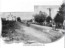 This photo was taken in 1873 of the village