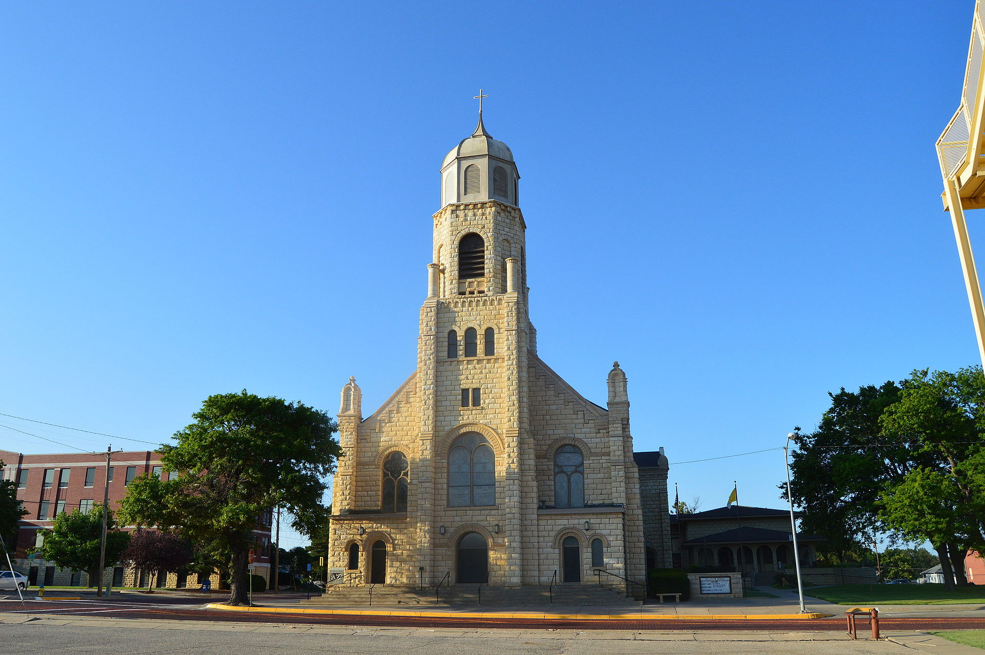St. Joseph's Church was built in 1904 in the Romanesque Revival style.