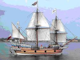Original portrait of the Susan Constant, one of the three vessels leading to the founding of the Jamestown Colony.