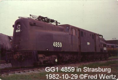 #4859 soon after it was retired from service at Strasburg, Pennsylvania.