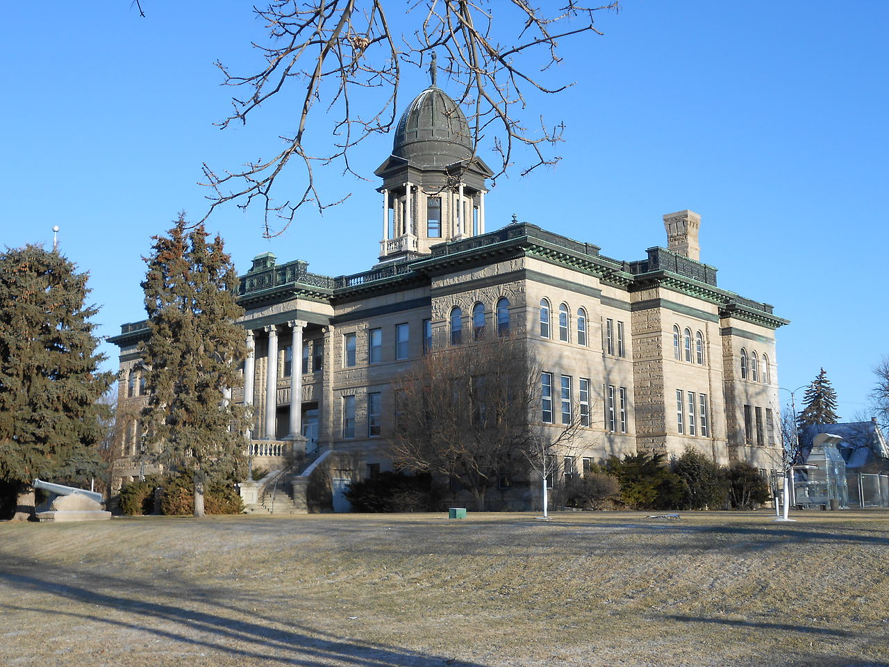 Cascade County Courthouse was built in 1903 and is a striking example of French Renaissance architecture.