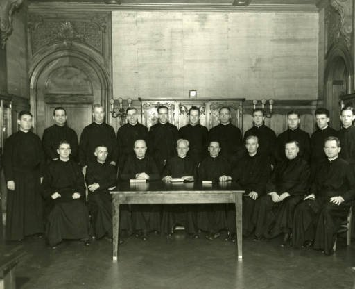 The First Jesuit Community in the Library, 1942