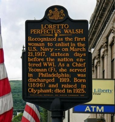 Location Marker located at the corner of West Lackawanna Ave and Willow Ave