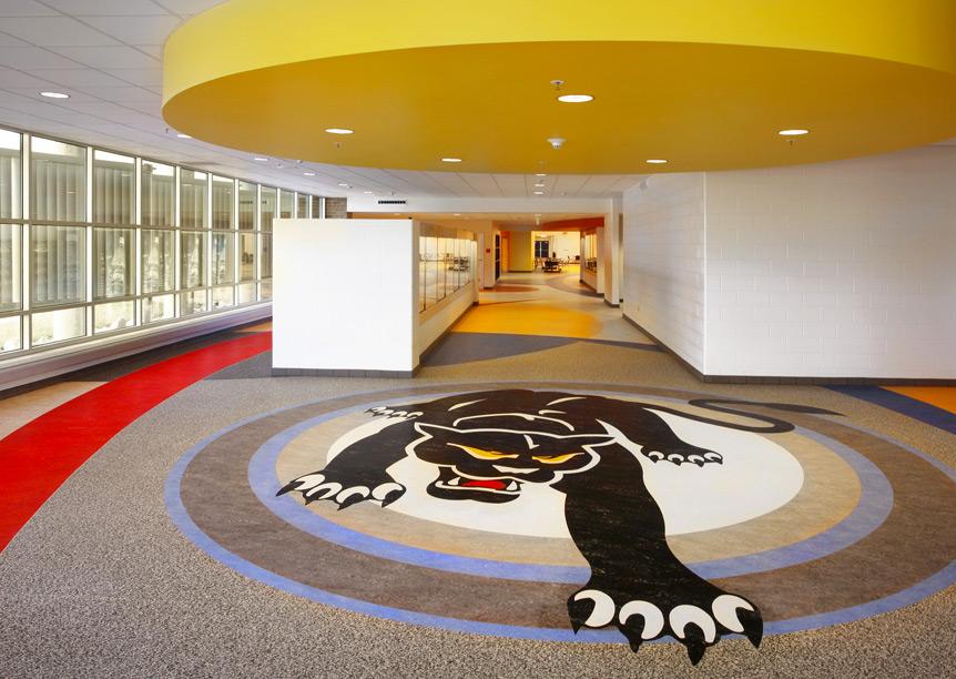 Yellow, Floor, Flooring, Interior design