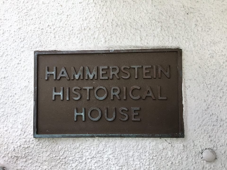 Historic plaque on the house.