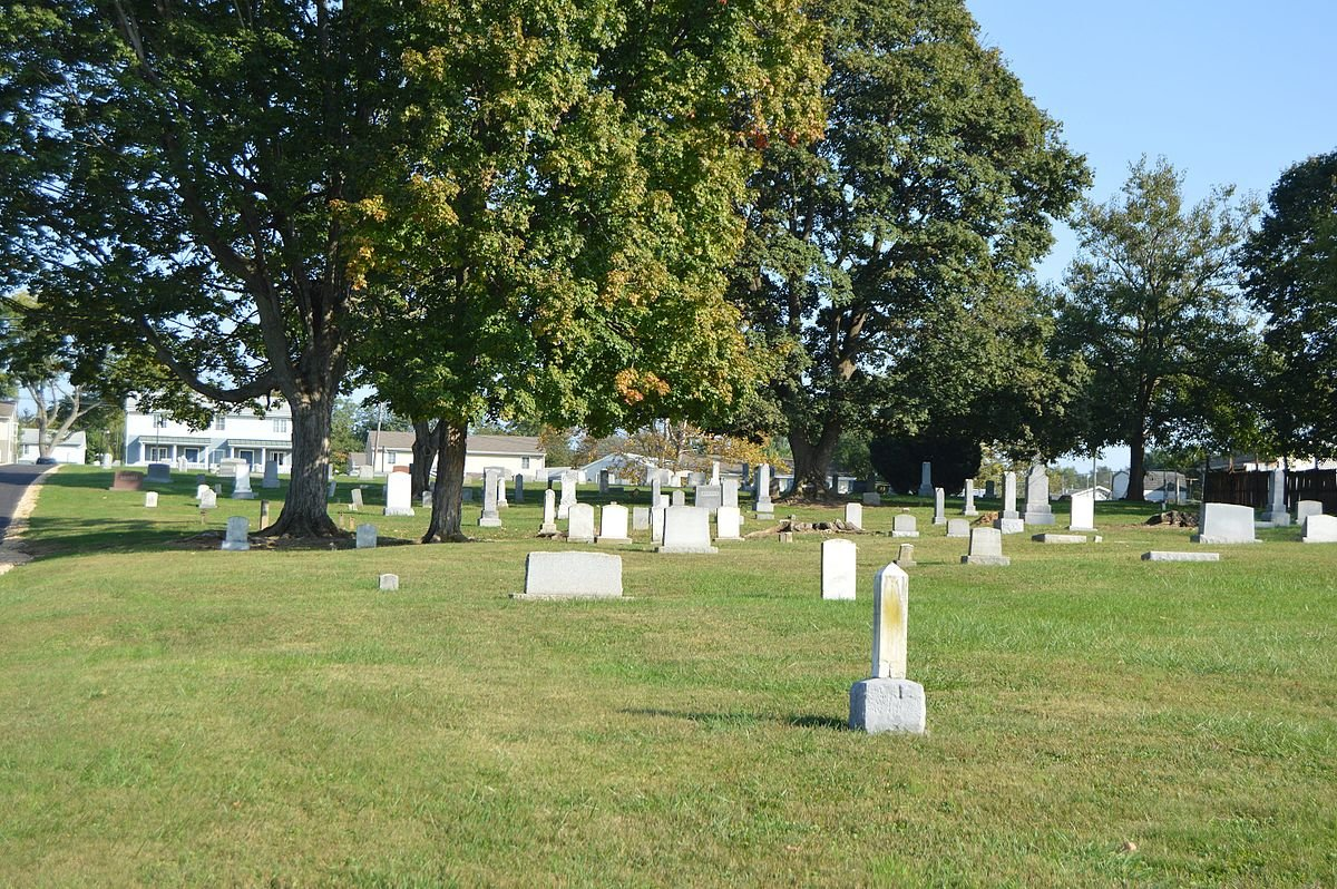 Another view of Newtown Cemetery.
