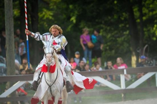 A jousting champion at the Pennsylvania Renaissance Faire.
