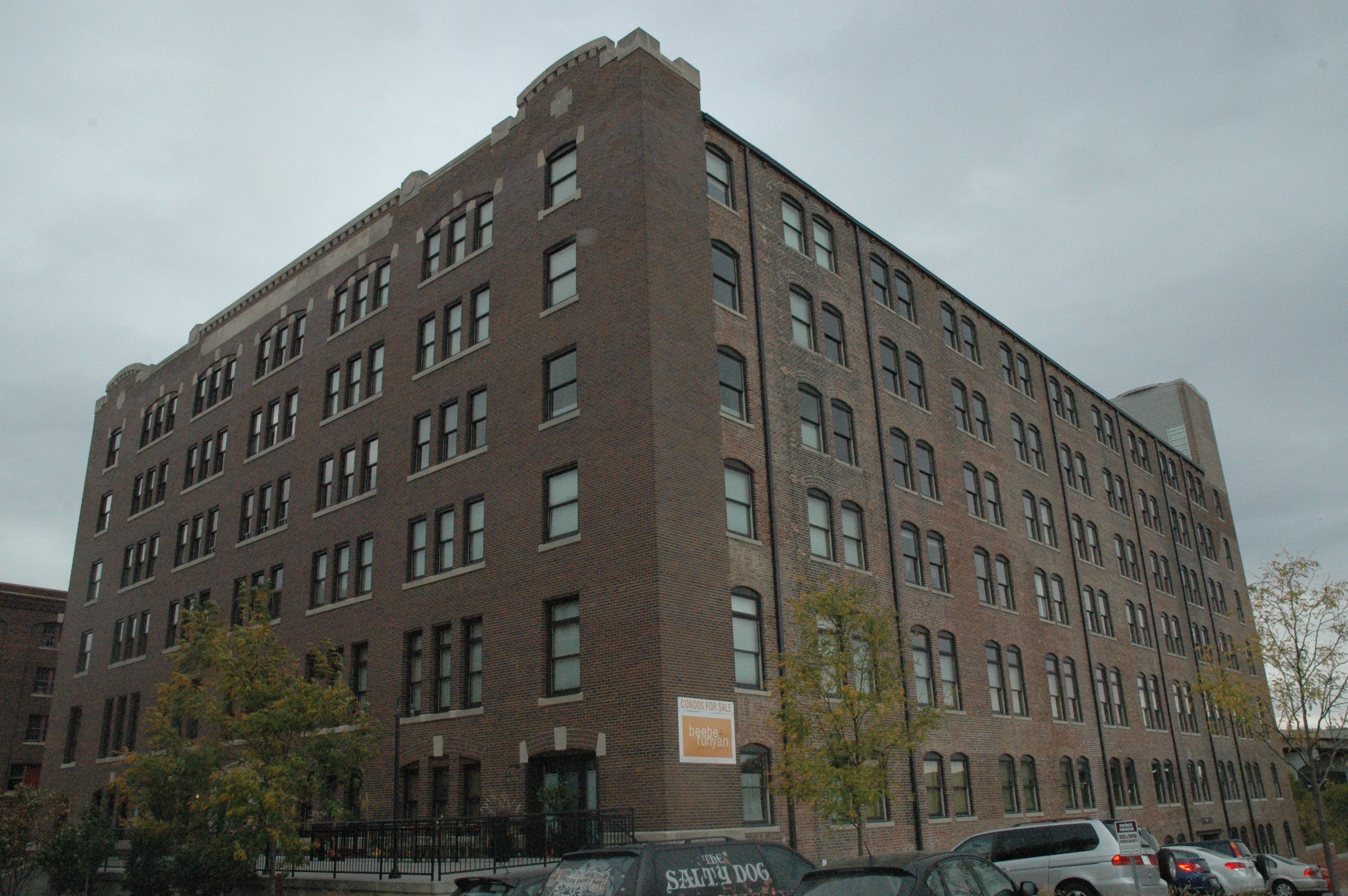 The former factory is now home to loft-style apartments.