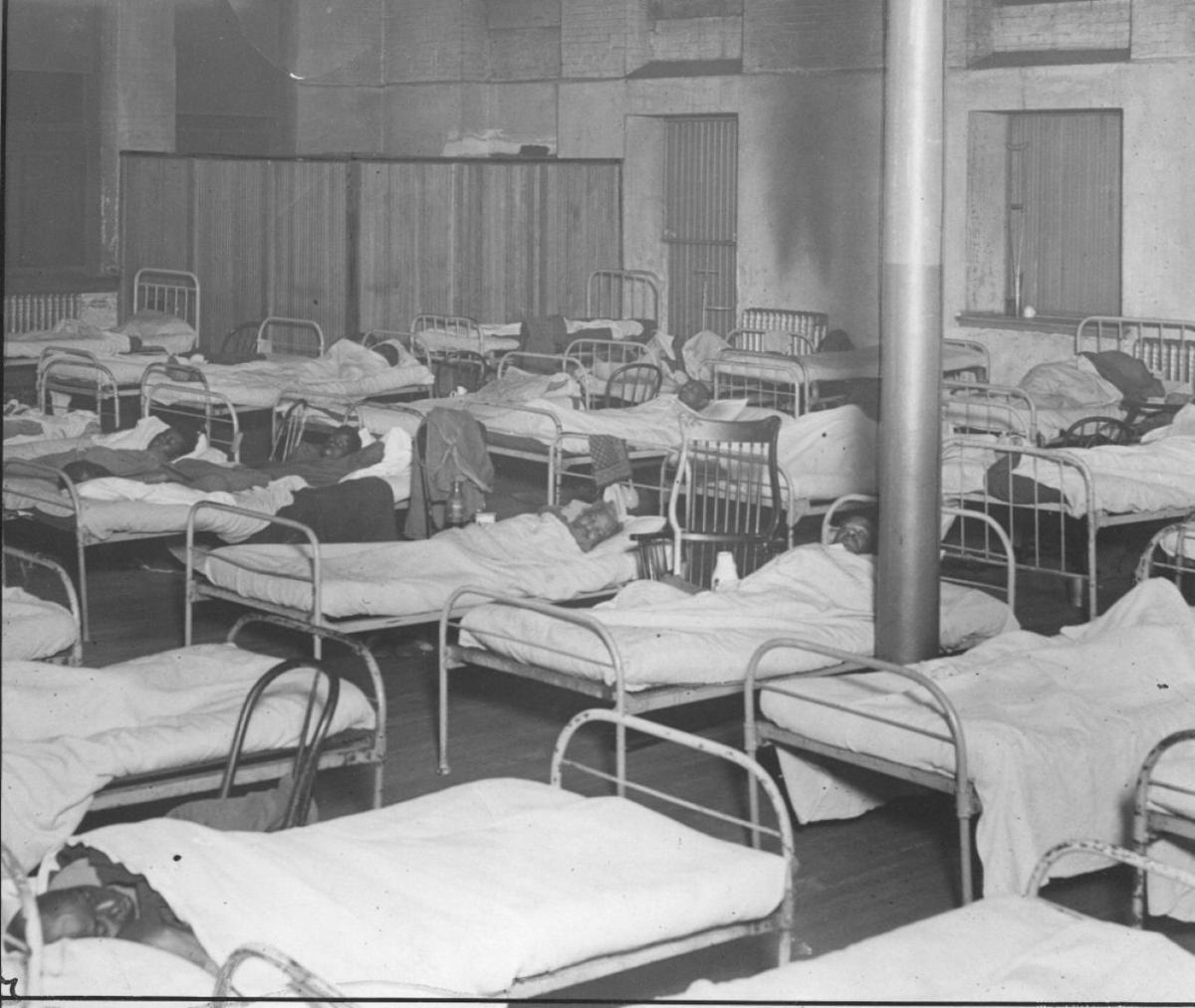Inside City Hospital No. 2 in 1923