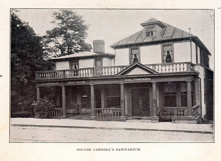 "Photo dating back to the early 1900s depicting ""Dr. Carroll's Sanatorium"" as it stood in those first years of its incarnation. Established in 1909, he would later go on to change the name to Highland Hospital in 1912."