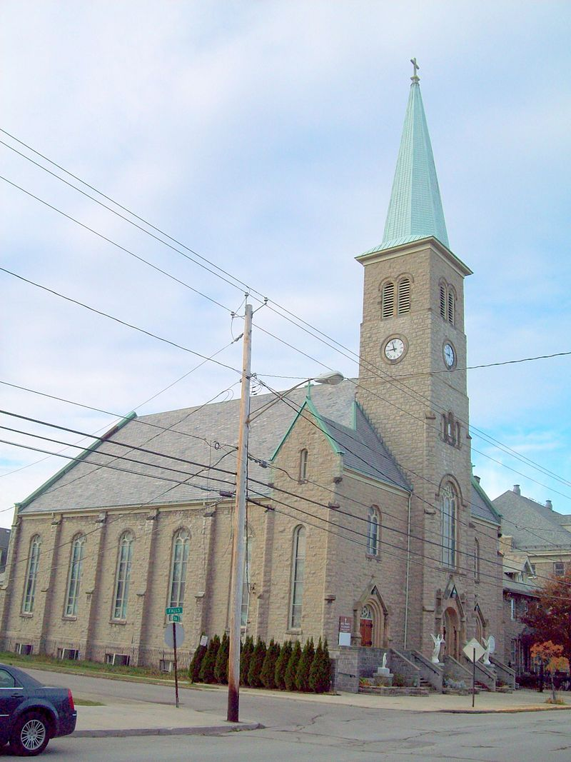Holy Trinity Roman Catholic Church was built in 1906.