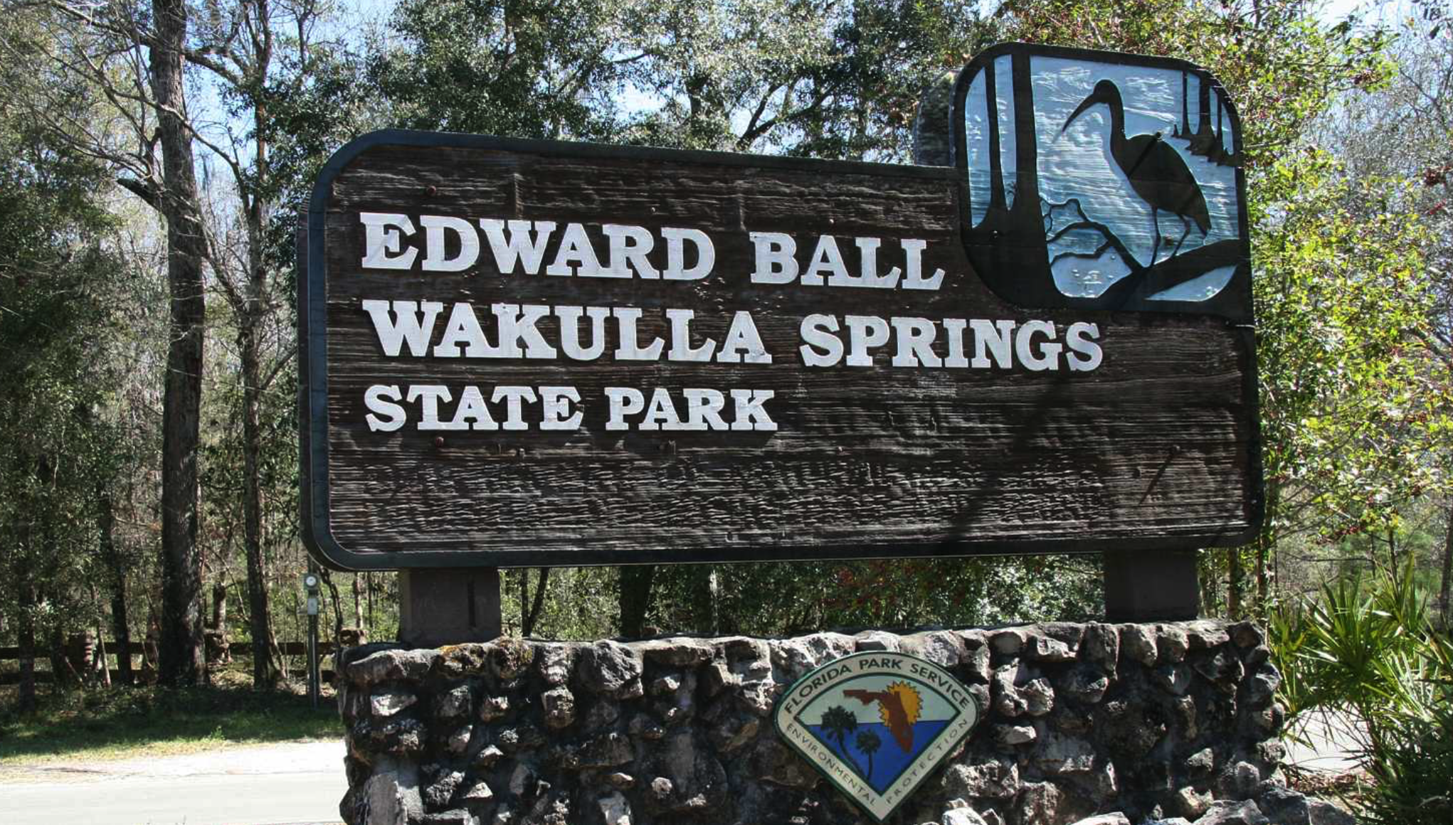 Picture of the sign at the entrance to Edward Ball Wakulla Springs State Park. (2)