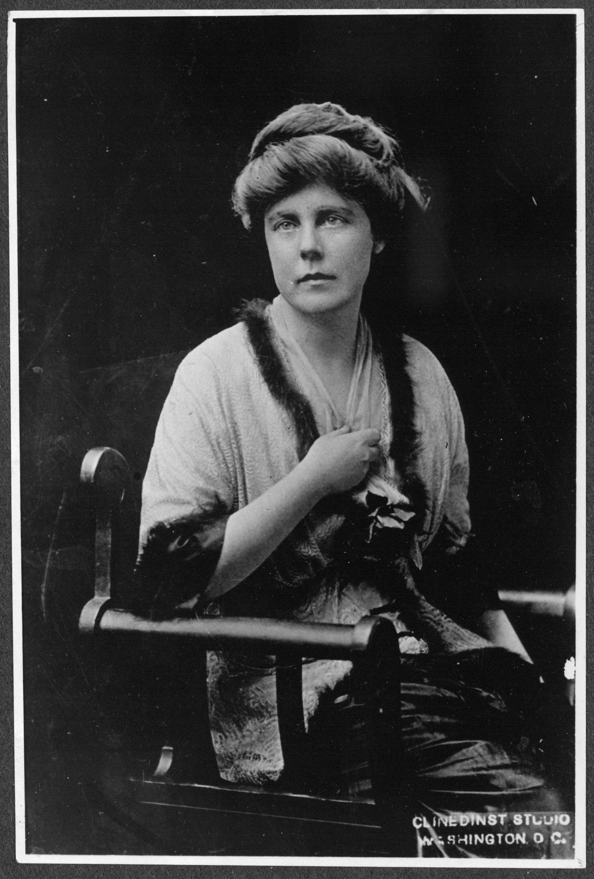 Lucy Burns and Alice Paul founded the National Woman's Party in 1913. While serving the maximum sentence in jail, Burns led many of the hunger strikes among incarcerated Silent Sentinels. Library of Congress.