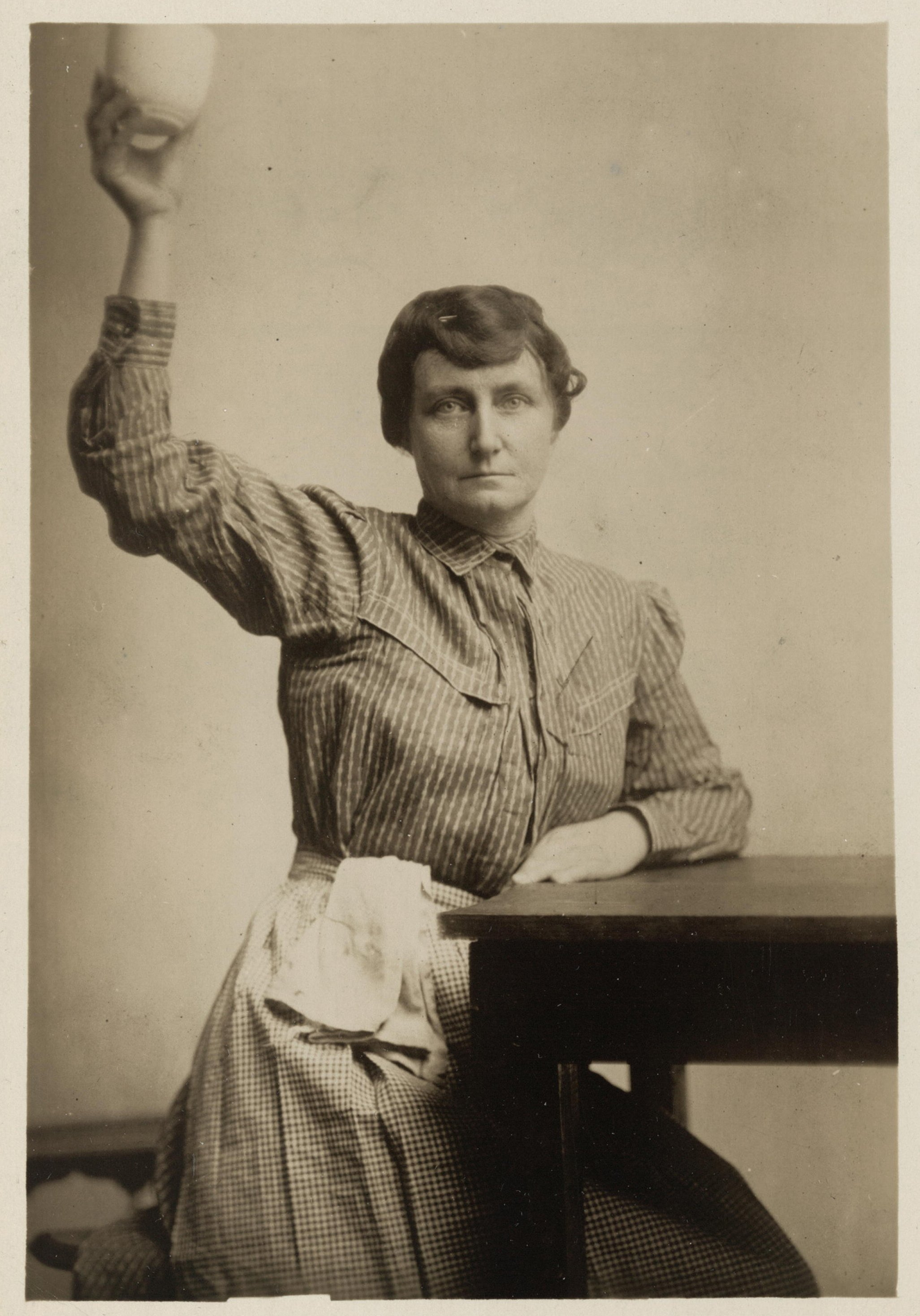 Pauline Adams, an Irish immigrant and suffragist, is pictured in her prison garb. She later became a lawyer. Library of Congress.