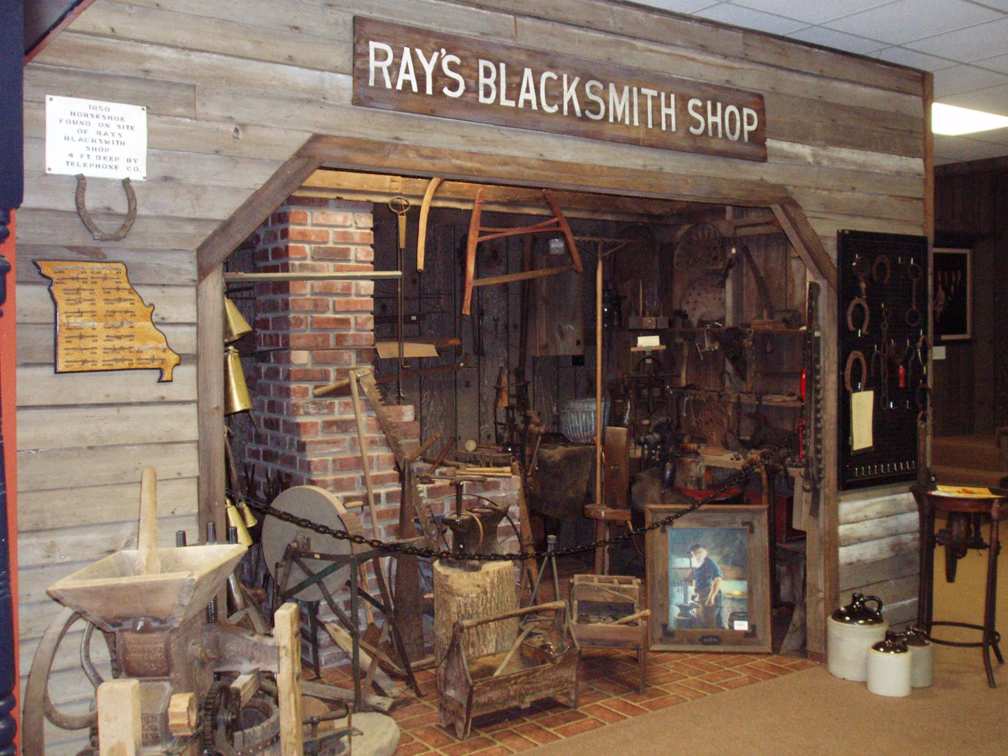 William Ray's Blacksmith Shop display