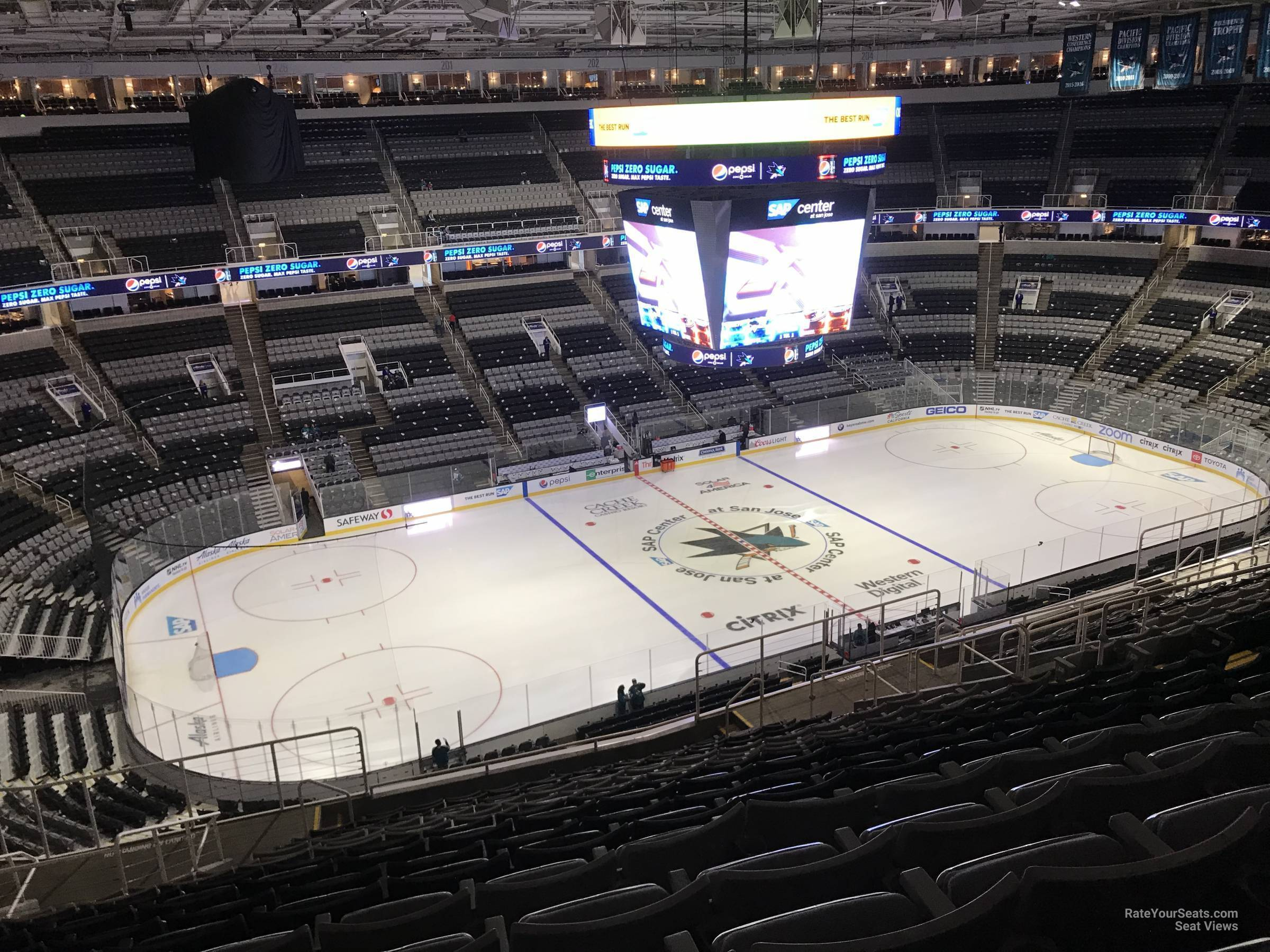 The SAP Center Ice Surface
