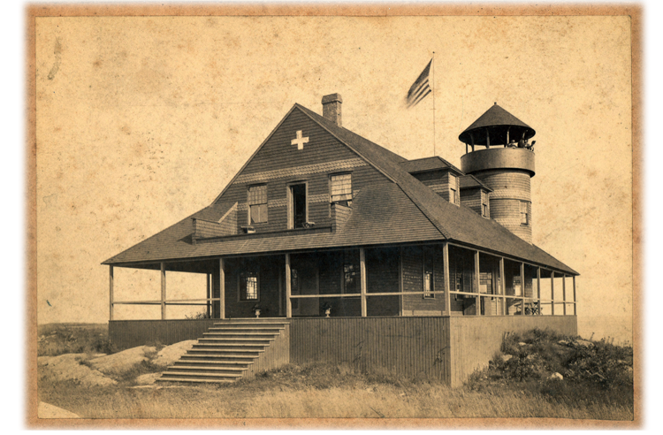 Older photograph of the Fifth Maine Regiment Memorial Hall