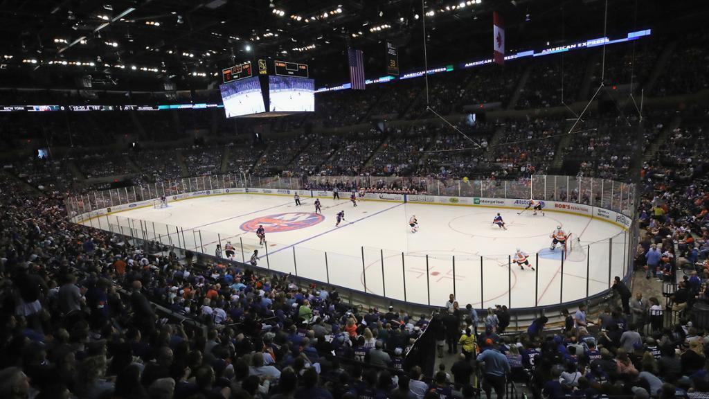 Nassau Veterans Memorial Coliseum Ice Hockey Surface
