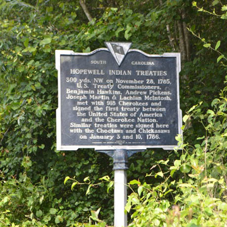 Historic Marker for Hopewell Treaties