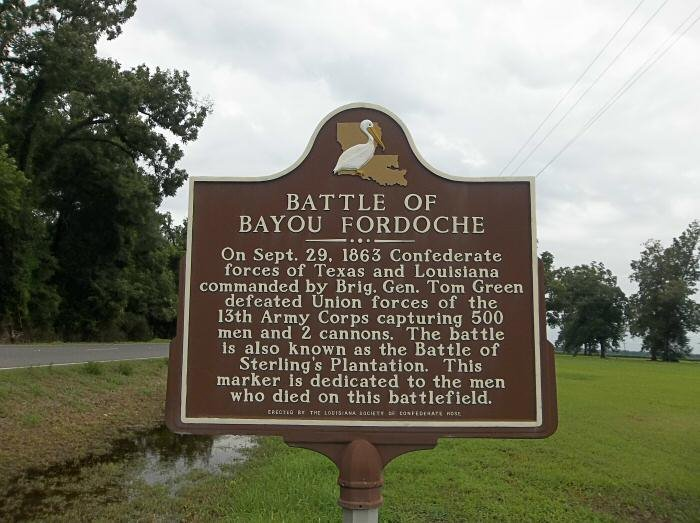 The historical marker dedicated by the Order of the Confederate Rose