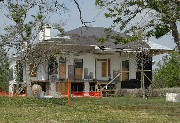 Beauvoir (April 2006), 7 months after Hurricane Katrina