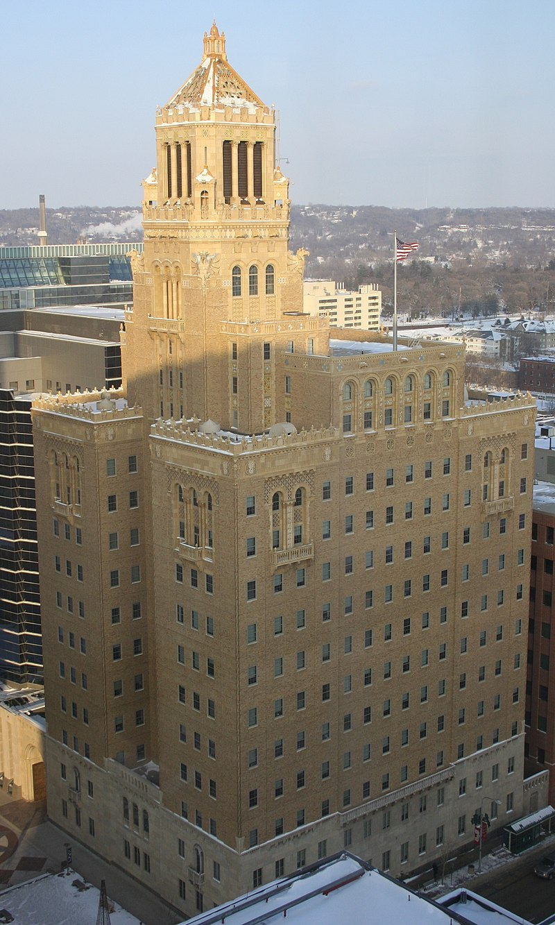 The Plummer Building was built in 1928 and is a National Historic Landmark.