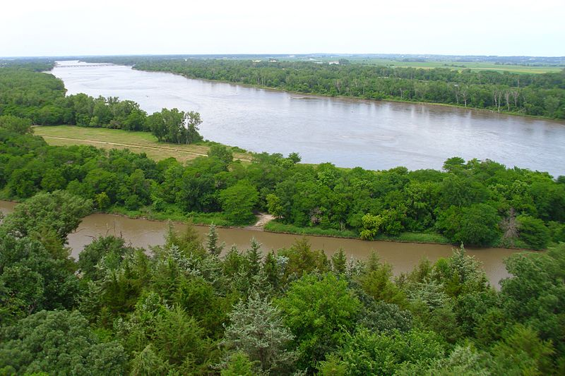 View of the Platte from the observation tower