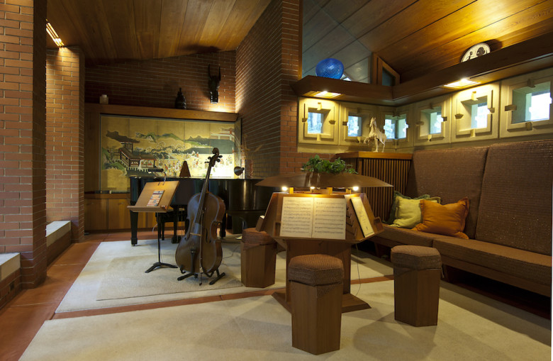 The music room within the Zimmerman House.