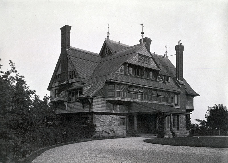 The Sherman House as it looked prior to its many additions.