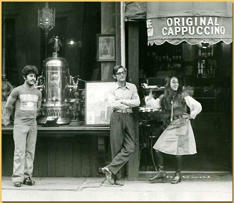 Outside Caffé Reggio circa 1974