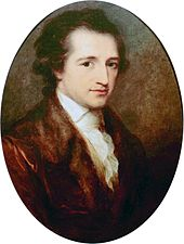 Goethe at age 38, painted by Angelica Kaufmann (1787)