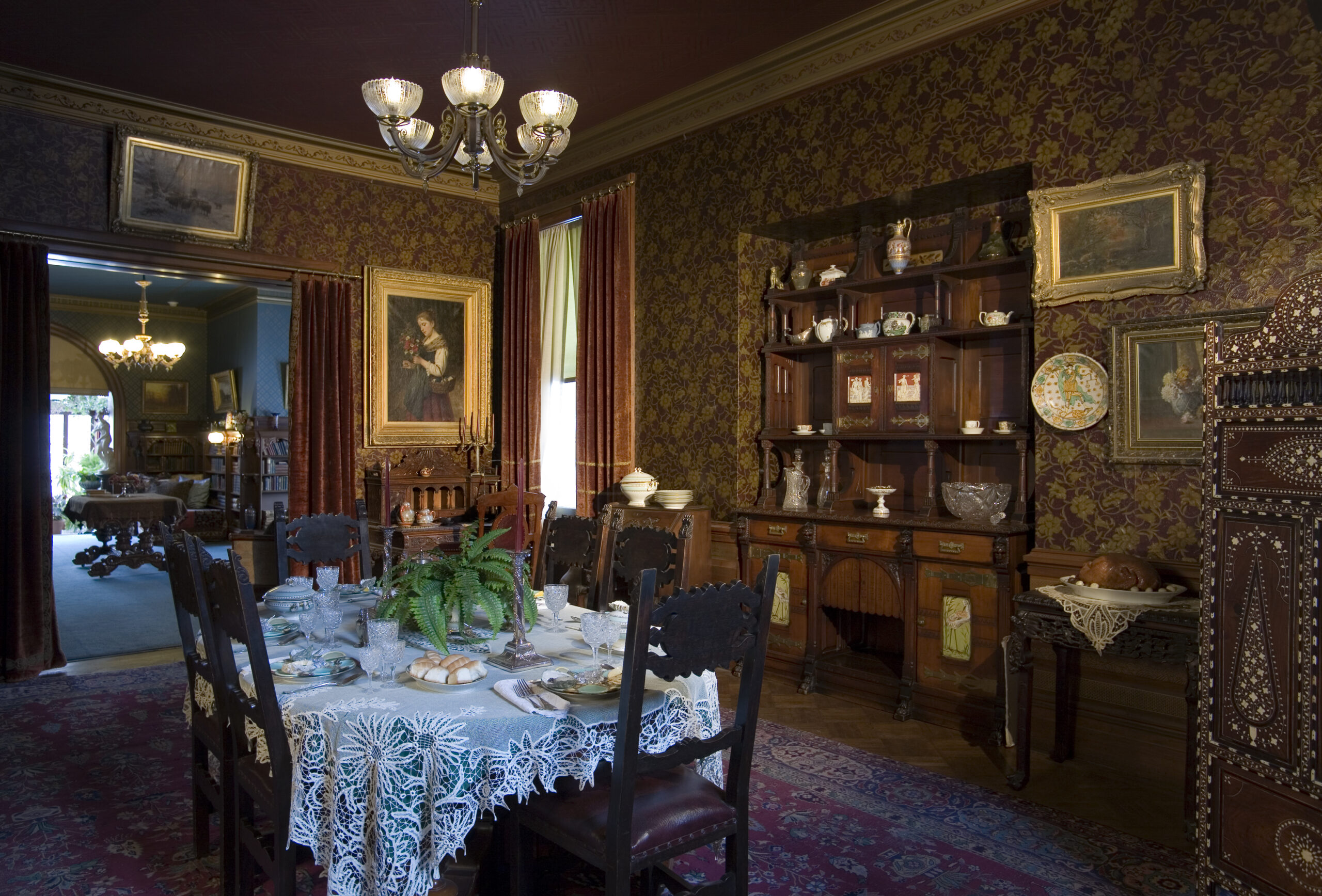 The Dining Room: Most meals were eaten here from small family dinners to small dinner parties