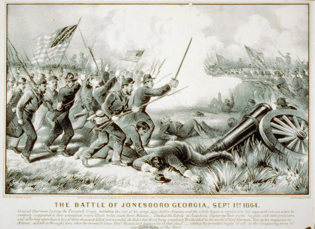 Newspaper Heading with Cartoon Depicting the Battle.