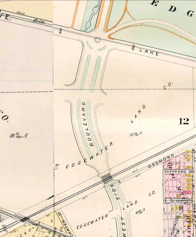 Location of Bridge 54 around the time of its construction in 1898.