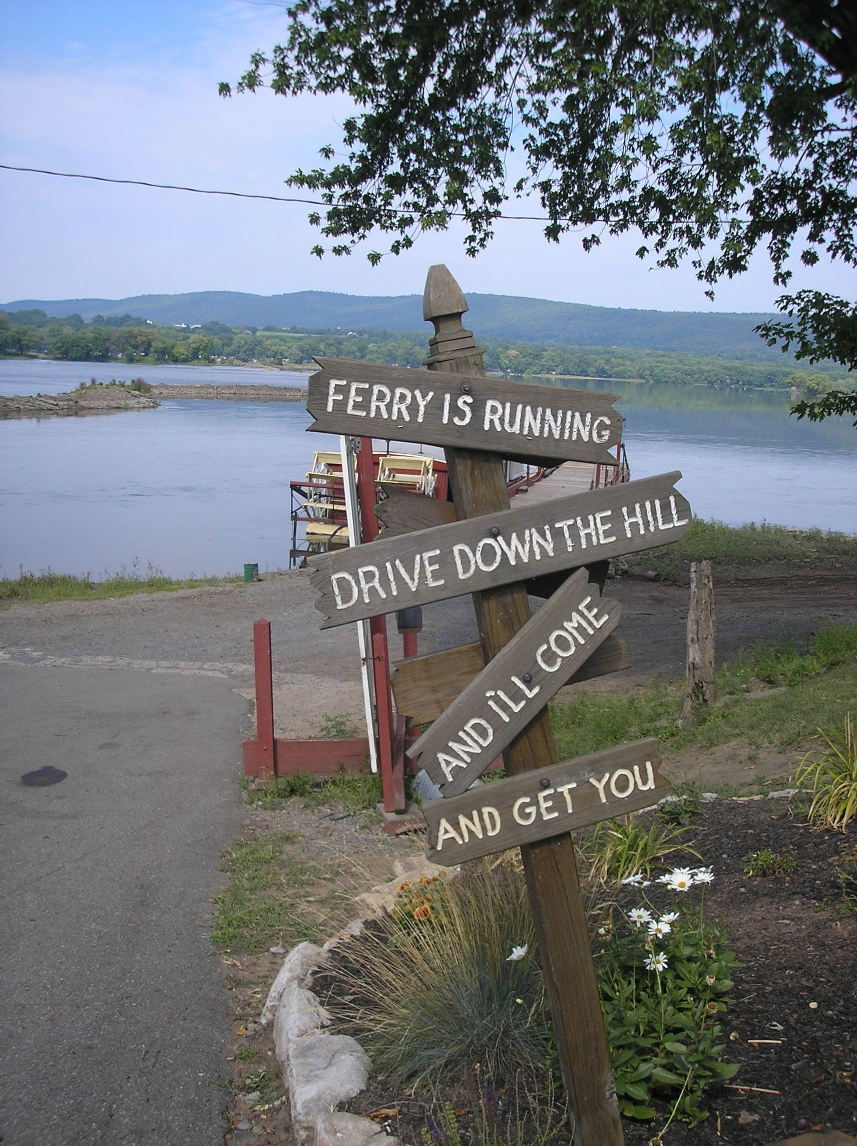 Simple instructions for those wishing to be ferried across the Susquehanna.