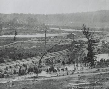 This photo is part of the aftermath during The Battle of New Hope Church.