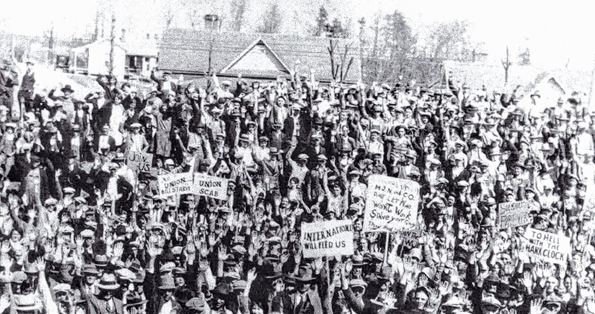 Crowd at Loray Mill Strike, 1929. 