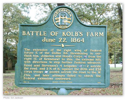 Battle of Kolb's Farm Historical Marker