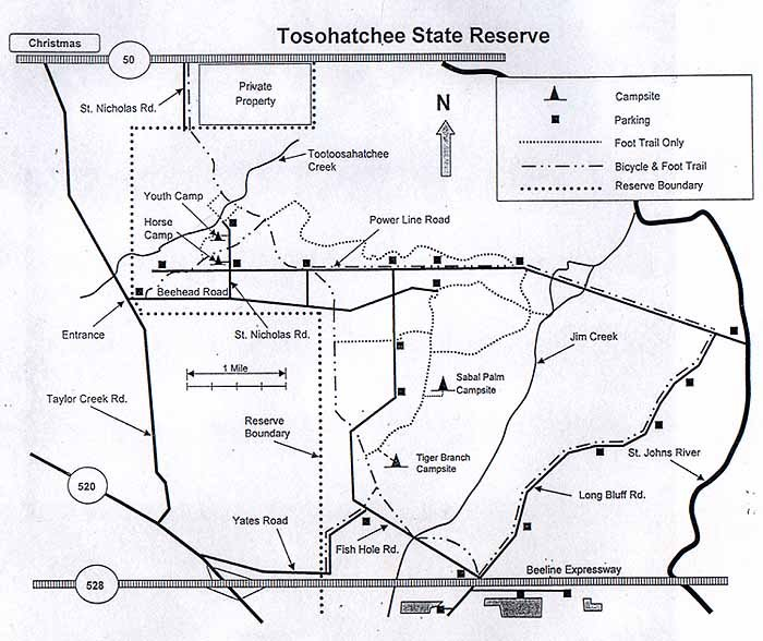 A map of the Reserve with different trails you can experience.