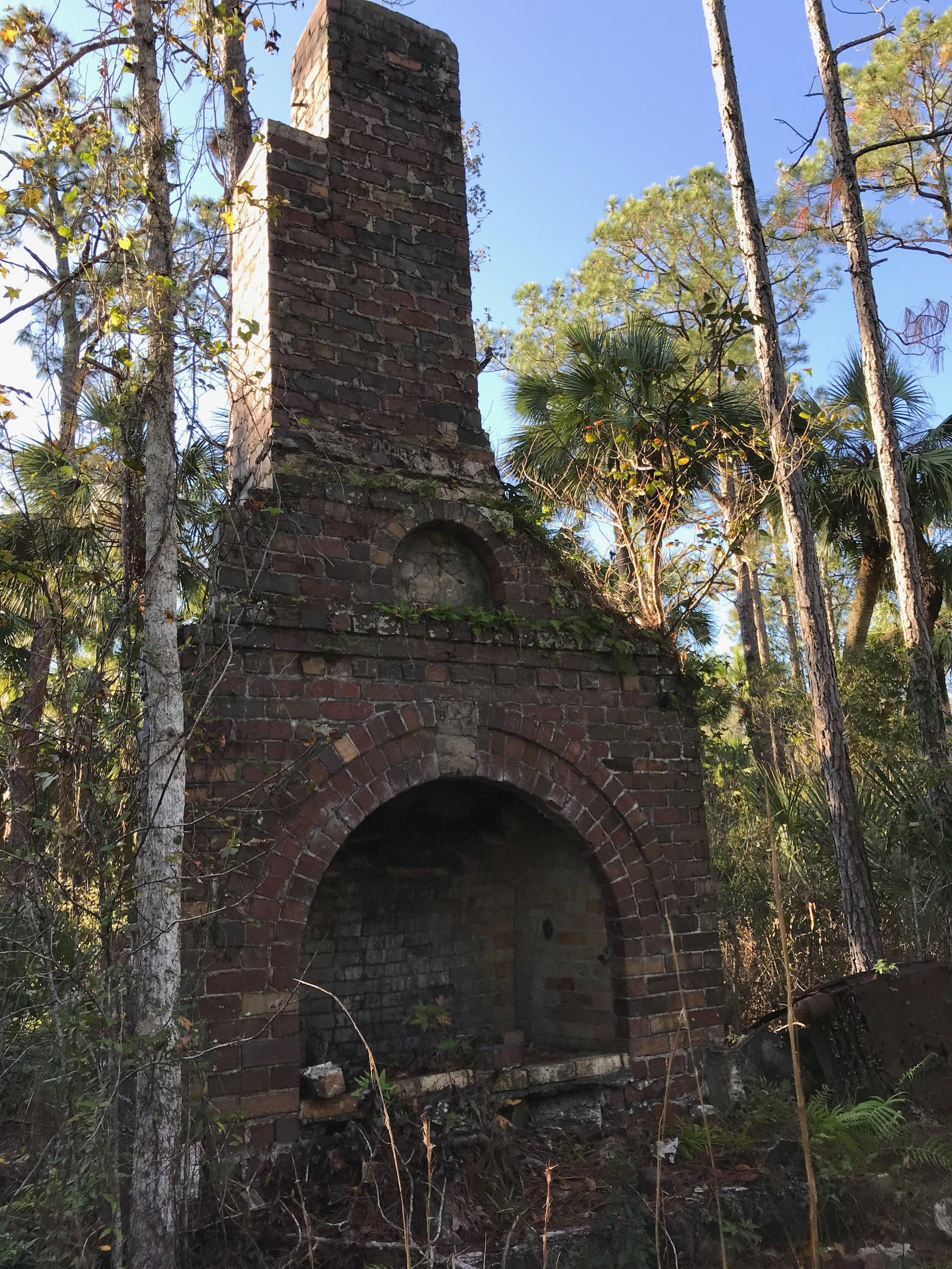 Old Chimney - Just part of the chimney from an old hunting camp - N28 26.708 W80 56.982