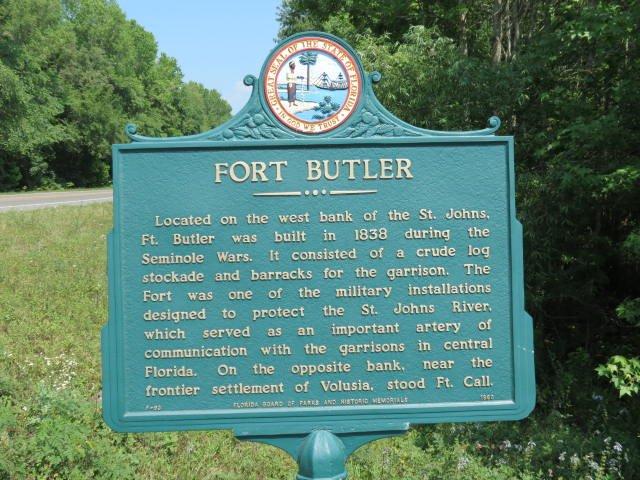 Fort Butler Plaque