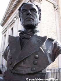 Bust of William Tecumseh Sherman. He was an American soldier, businessman, educator, and author. He served as a general in the Union Army during the American Civil War (1861–65)