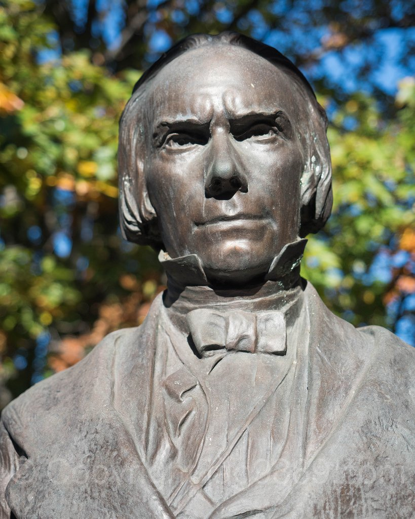 Bronze bust of statesman Henry Clay, a 5 time failed presidential candidate.