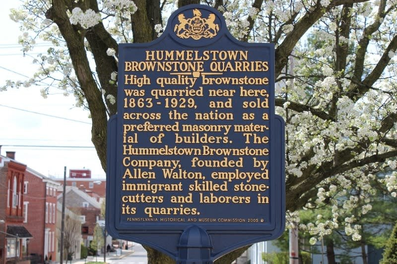 This historical marker is located on E. Main St. in Hummelstown.