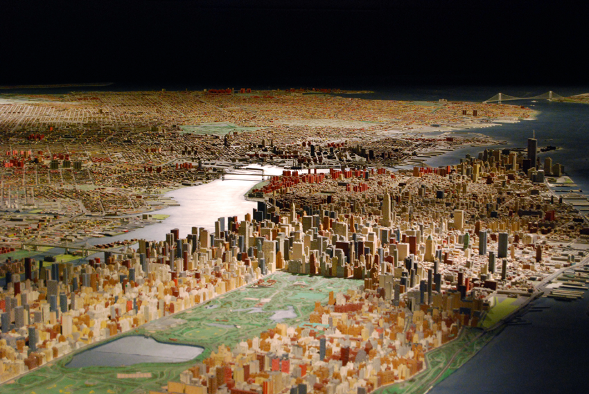The Queens Museum's panorama of New York.